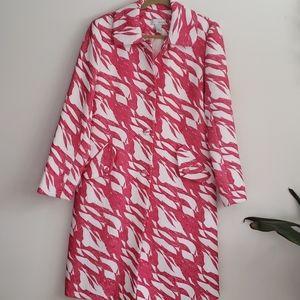 Spiegel Pink &White Quilted Vintage  Coat